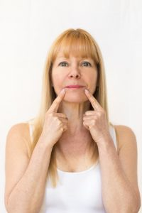 Face yoga acupressure points