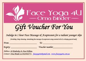Facial gift vouchers